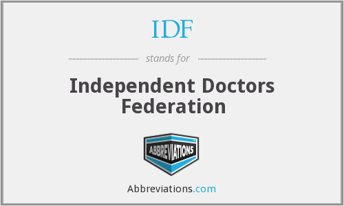 IDF - Independent Doctors Federation