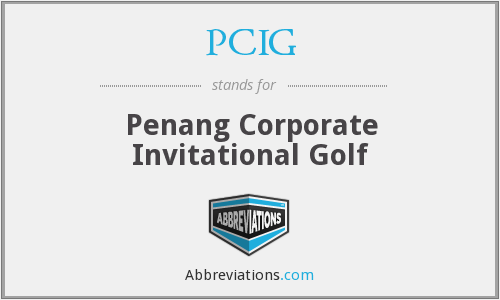 PCIG - Penang Corporate Invitational Golf