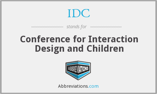 IDC - Conference for Interaction Design and Children