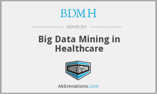 What does BDMH stand for?