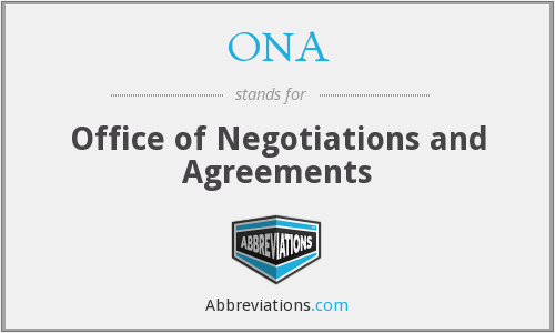 ONA - Office of Negotiations and Agreements
