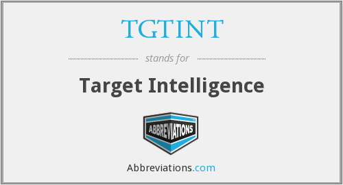What does TGTINT stand for?