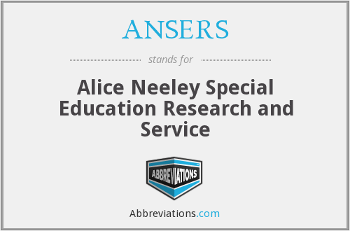 What does ANSERS stand for?