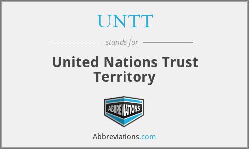 UNTT - United Nations Trust Territory