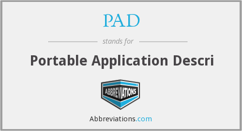 PAD - Portable Application Descri