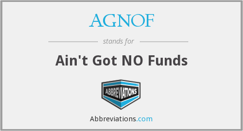 What does AGNOF stand for?