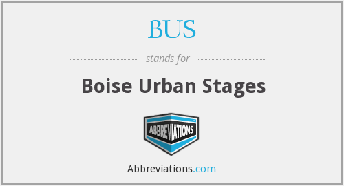 BUS - Boise Urban Stages