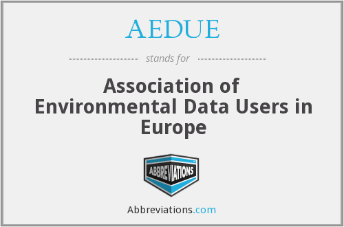 AEDUE - Association of Environmental Data Users in Europe
