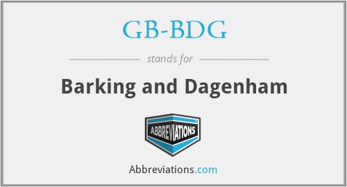 GB-BDG - Barking and Dagenham
