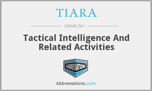 TIARA - Tactical Intelligence And Related Activities