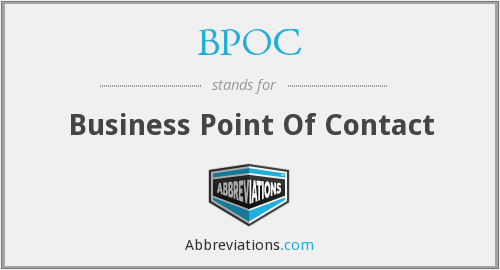 BPOC - Business Point Of Contact