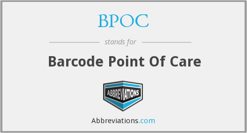 BPOC - Barcode Point Of Care