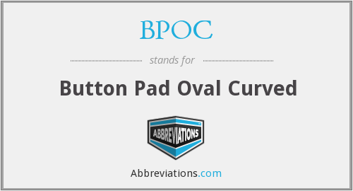 BPOC - Button Pad Oval Curved