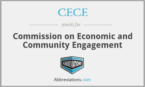 CECE - Commission on Economic and Community Engagement