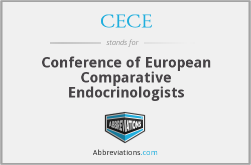 CECE - Conference of European Comparative Endocrinologists