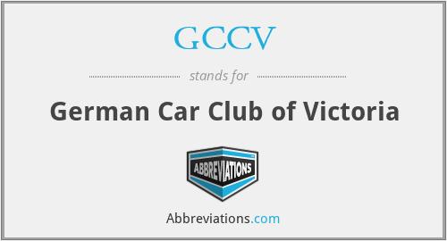 GCCV - German Car Club of Victoria