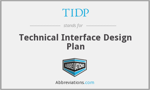 TIDP - Technical Interface Design Plan
