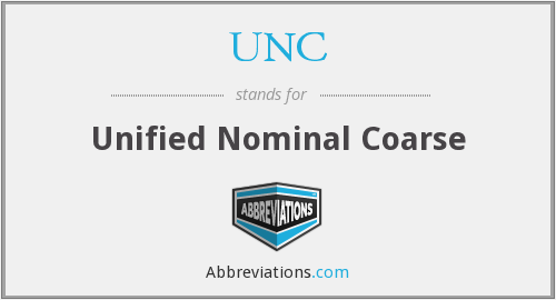 UNC - Unified Nominal Coarse