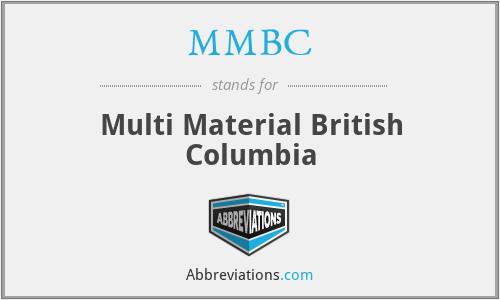 MMBC - Multi Material British Columbia