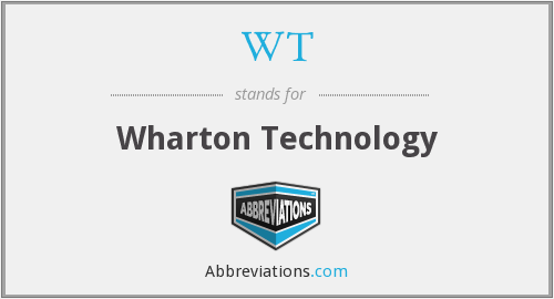 WT - Wharton Technology