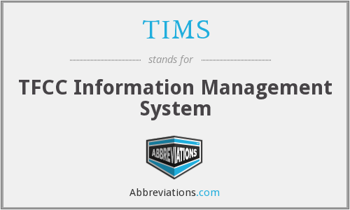 TIMS - TFCC Information Management System