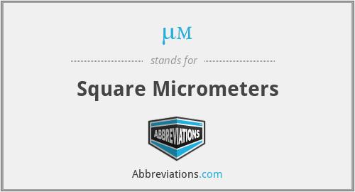 µm² - Square Micrometers