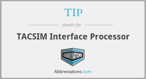 TIP - TACSIM Interface Processor