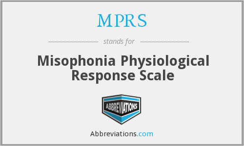 MPRS - Misophonia Physiological Response Scale