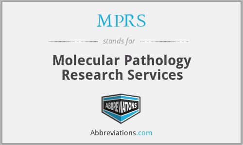 MPRS - Molecular Pathology Research Services
