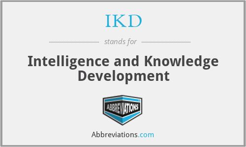 IKD - Intelligence and Knowledge Development