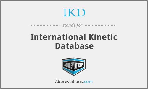 IKD - International Kinetic Database