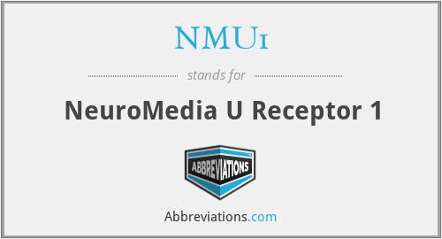 NMU1 - NeuroMedia U Receptor 1
