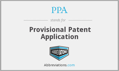 PPA - Provisional Patent Application