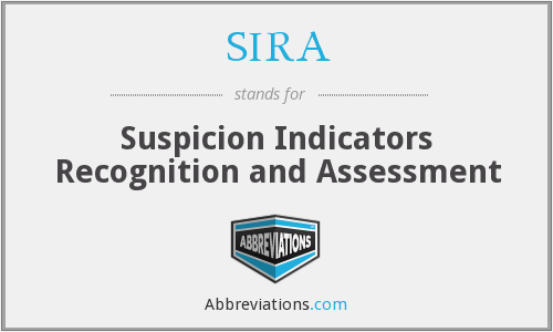 SIRA - Suspicion Indicators Recognition and Assessment