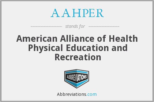 AAHPER - American Alliance of Health Physical Education and Recreation