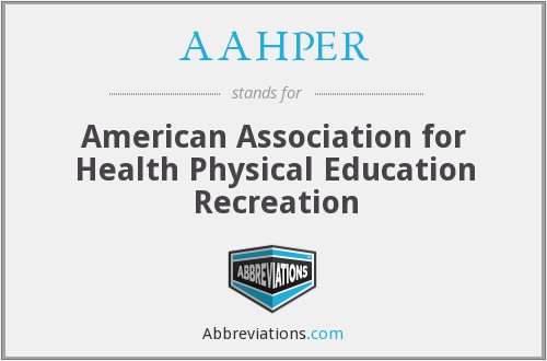 AAHPER - American Association for Health Physical Education Recreation