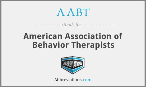 AABT - American Association of Behavior Therapists