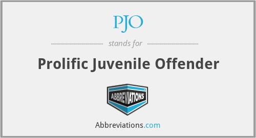 PJO - Prolific Juvenile Offender