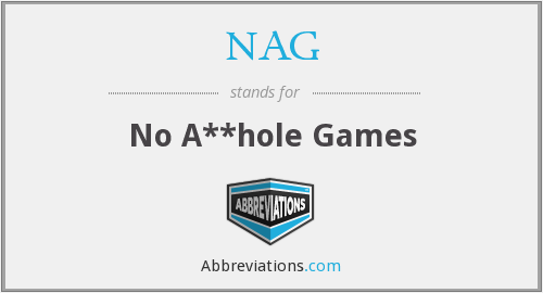NAG - No A**hole Games