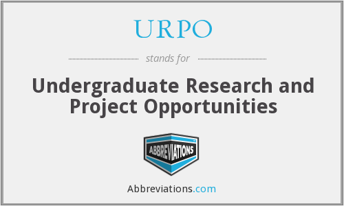 What does URPO stand for?