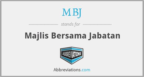 MBJ - Majlis Bersama Jabatan