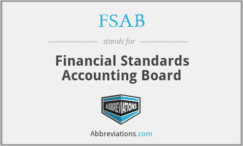 FSAB - Financial Standards Accounting Board