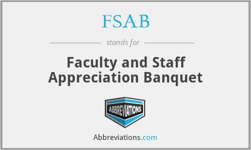 FSAB - Faculty and Staff Appreciation Banquet