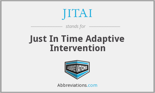 What does JITAI stand for?