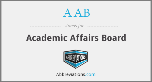 AAB - Academic Affairs Board