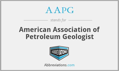 AAPG - American Association of Petroleum Geologist