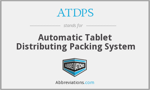 ATDPS - Automatic Tablet Distributing Packing System