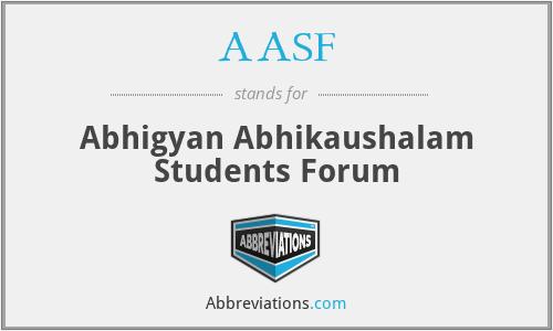 AASF - Abhigyan Abhikaushalam Students Forum