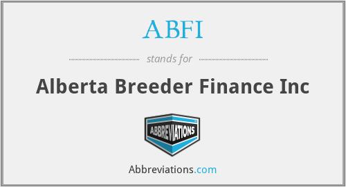 ABFI - Alberta Breeder Finance Inc