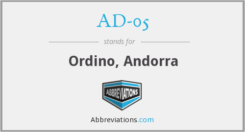 AD-05 - Ordino, Andorra